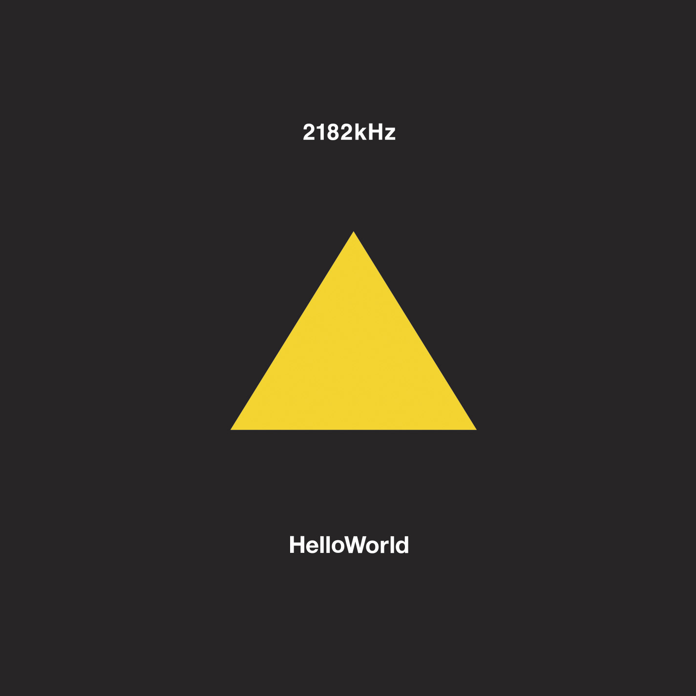 Hello World – 2182kHz (DATA064)